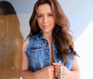 Alyssa Milano lors d'un shooting pour Maxim.