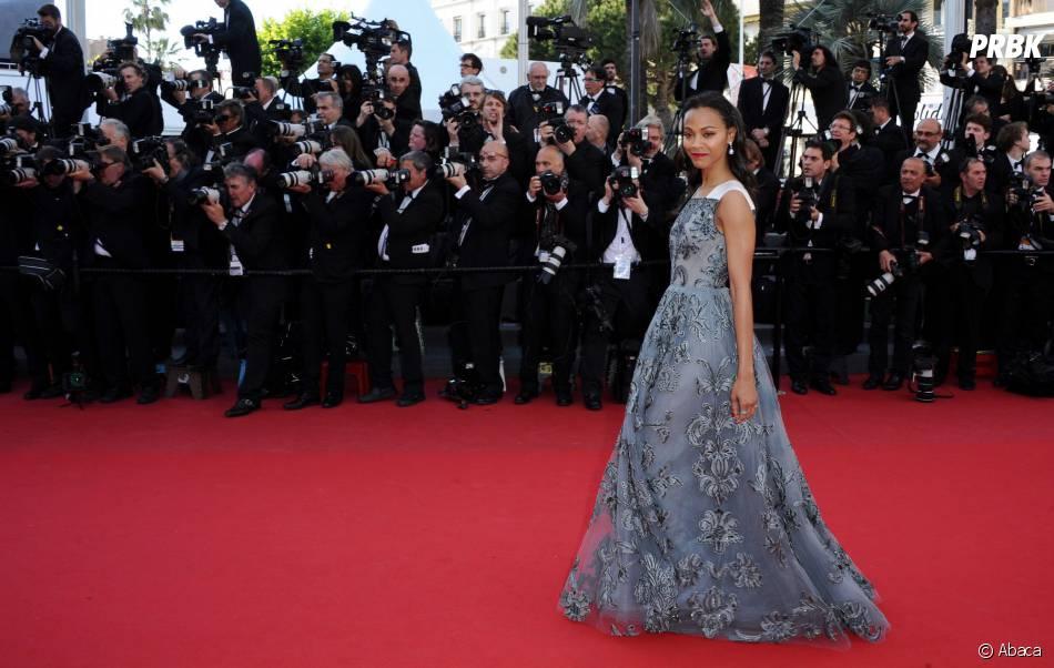Zoe Saldana sur le tapis rouge du festival de Cannes 2013