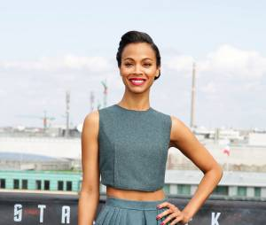 Zoe Saldana à Berlin pour Star Trek Into Darkness, le 28 avril 2013