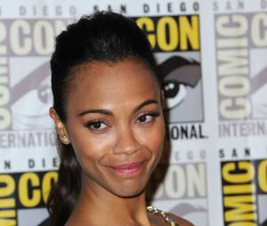 "Zoe Saldana au Comic-Con 2013 pour ""Guardians of the Galaxy"""