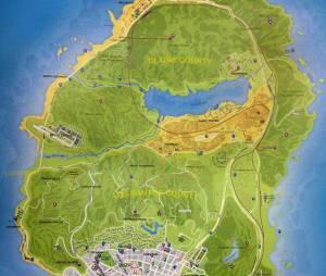 GTA 5 : s'agit-il de la carte de Los Santos, le terrain de jeu du titre ?