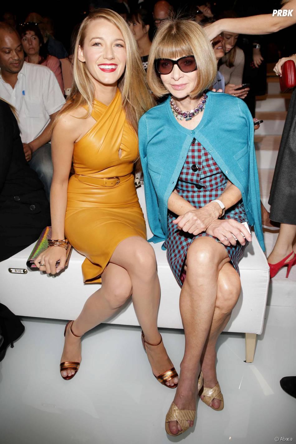 Blake Lively et Anna Wintour au défilé Gucci lors de la Fashion Week de Milan le 18 septembre 2013
