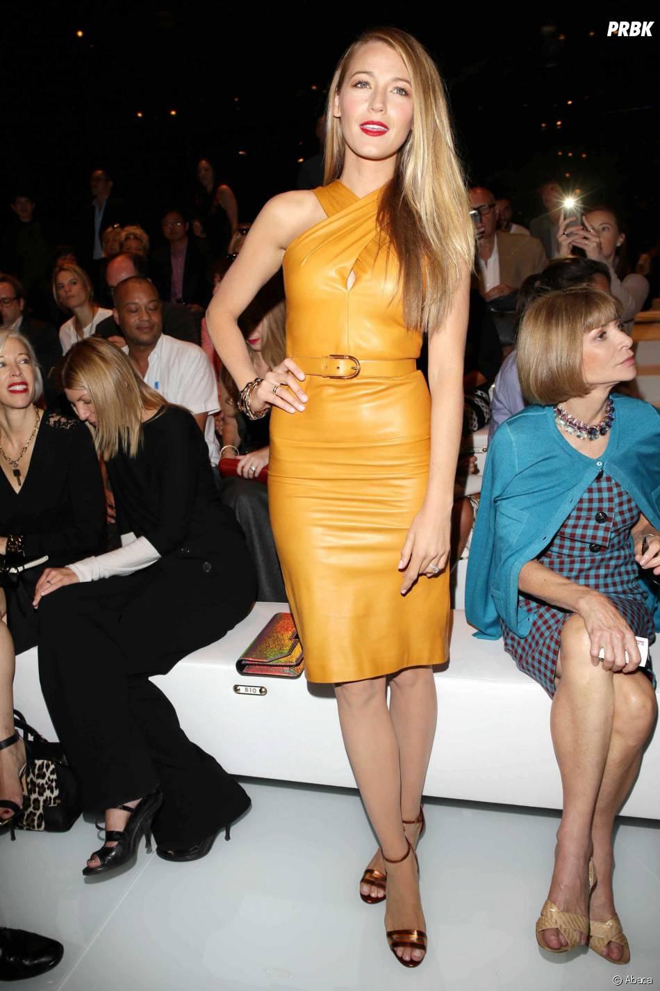 Blake Lively très classe au défilé Gucci lors de la Fashion Week de Milan le 18 septembre 2013