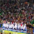 Tony Parker et les Bleus sacrés champions d'Europe 2013 de basket le 22 septembre 2013, à L jubljana en Slovénie