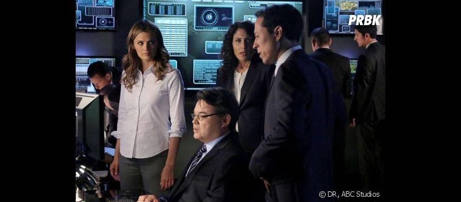 Castle saison 6, épisode 2 : photo promo avec Kate et Rachel McCord