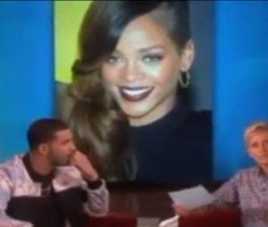 Drake parle de ses relations avec Rihanna, Nicki Minaj, Tyra Banks... sur le plateau d'Ellen Degeneres, le 20 septembre 2013