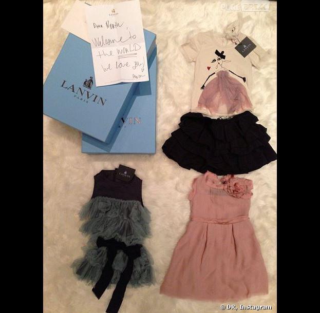 Kim Kardashian a reçu des vêtements de créateurs à la Fashion Week de Paris pour North : Lanvin