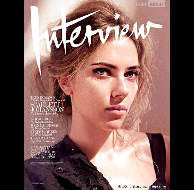 Scarlett Johansson en Une du numéro d'Octobre 2013 d'Interview magazine
