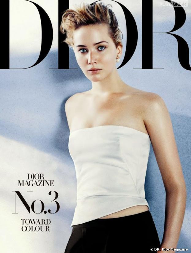 Jennifer Lawrence en Une du numéro de novembre 2013 de Dior Magazine