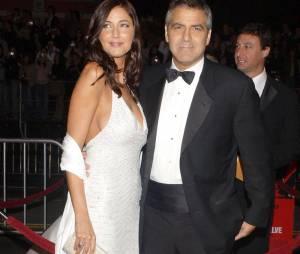 George Clooney et Lisa Snowdon à Los Angeles en décembre 2004.