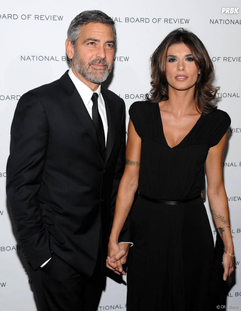 George Clooney et Elisabetta Canalis à New York en janvier 2010.