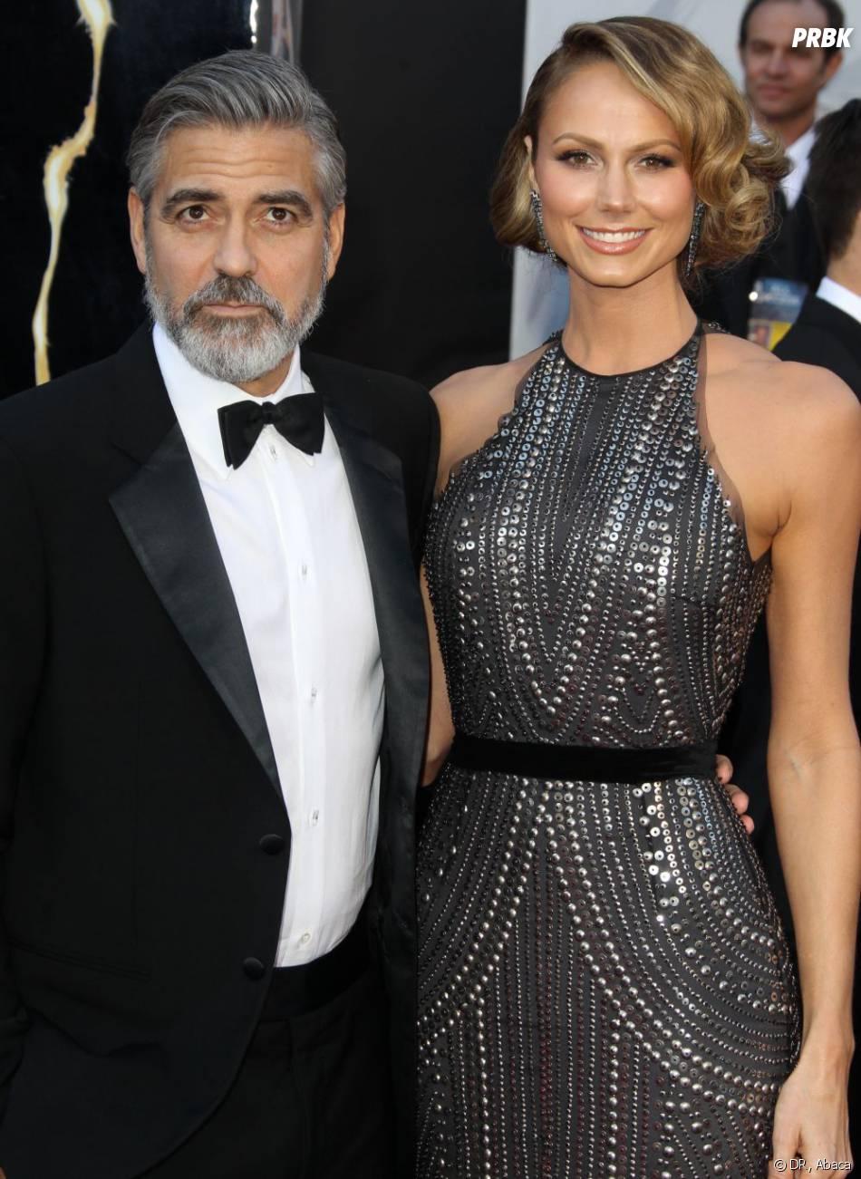 George Clooney et Stacy Keibler en février 2013 à Los Angeles.