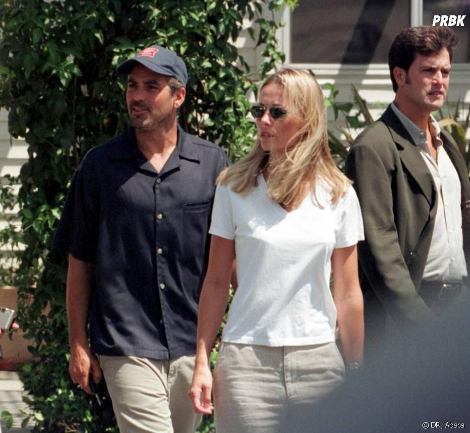 George Clooney et Céline Balitran à Los Angeles en août 1999.