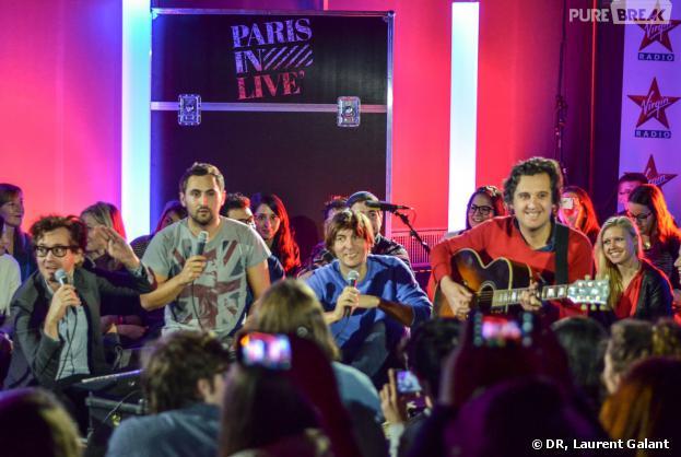 Phoenix en concert acoustique pour Paris in Live de Virgin Radio, le 11 novembre 2013