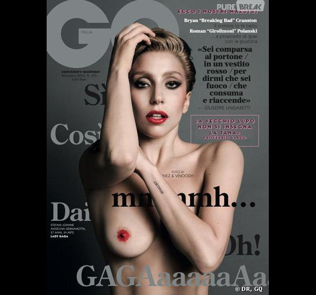 Lady Gaga en Une du magazine GQ italien complètement nue