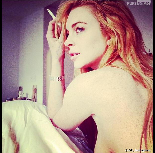 Lindsay Lohan topless sur Instagram