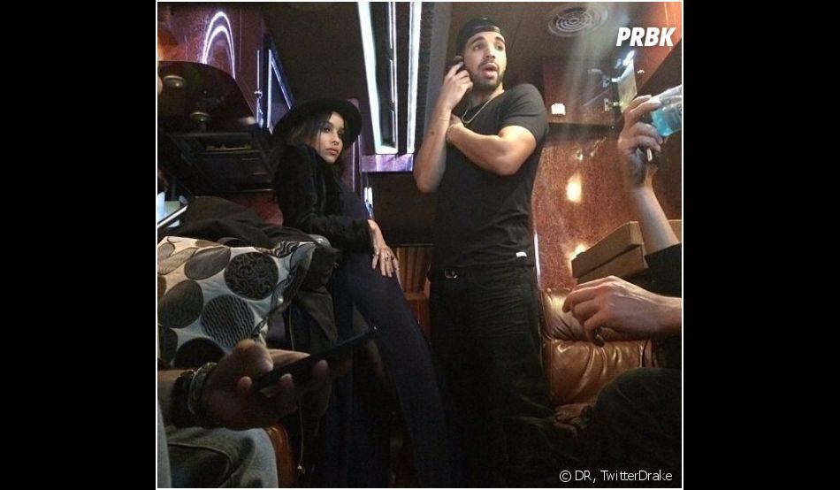 Drake et Zoe Kravitz en novembre 2013