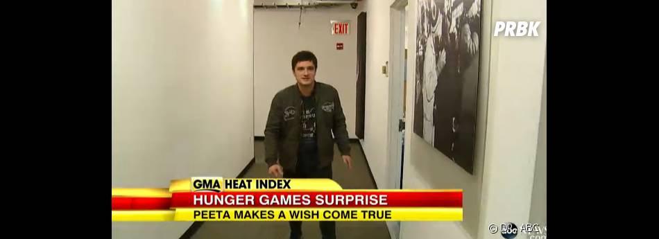 Josh Hutcherson heureux de réaliser le rêve d'une fan