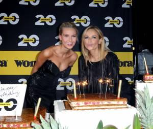 Adriana Karembeu etAdriana Cernanovaà la soirée fêtant les 20 ans de Wonderbra le 27 novembre 2013