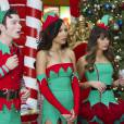 Glee saison 5, épisode 8 : Lea Michele, Naya Rivera et Chris Colfer en elfes sexy