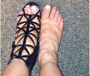 Kim Kardashian : pieds gonflés sur Instagram, en mai 2013