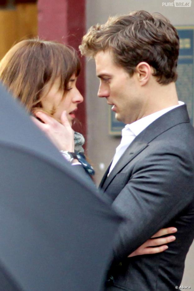 Fifty Shades of Grey : Jamie Dornan et Dakota Johnson en tournage, le 19 décembre 2013 à Vancouver