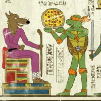 """""""Héroglyphes"""" : superbe série d'illustrations de super-héros sur papyrus à l'époque de l'Égypte ancienne"""
