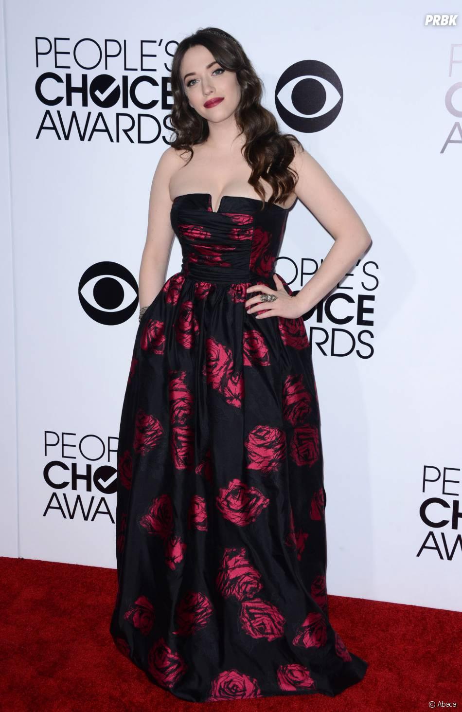 People's Choice Awards 2014 : Kat Dennings sur le tapis-rouge le 8 janvier 2014 à Los Angeles