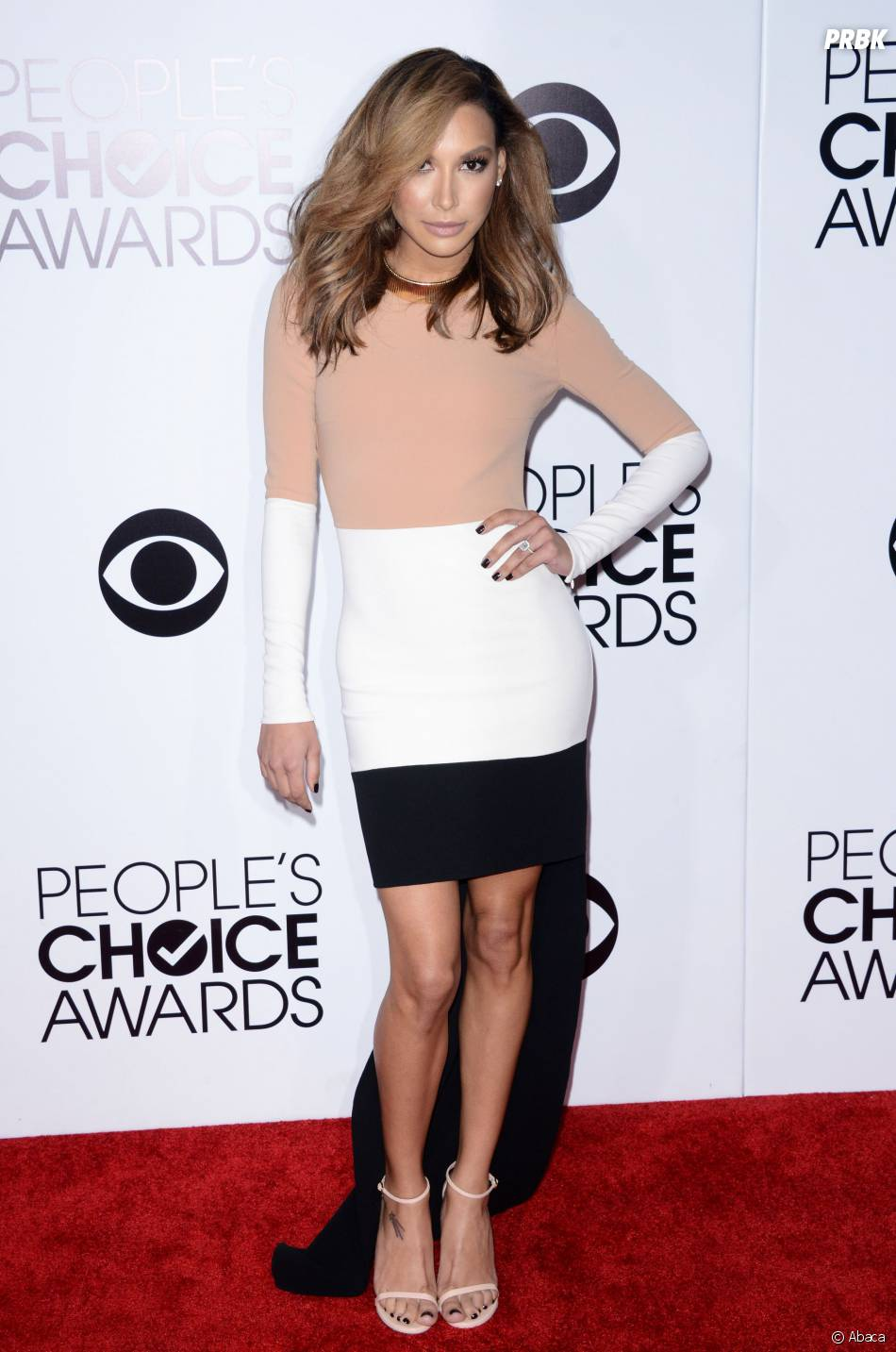 People's Choice Awards 2014 : Naya Rivera sur le tapis-rouge le 8 janvier 2014 à Los Angeles