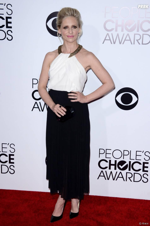 People's Choice Awards 2014 : Sarah Michelle Gellar sur le tapis-rouge le 8 janvier 2014 à Los Angeles