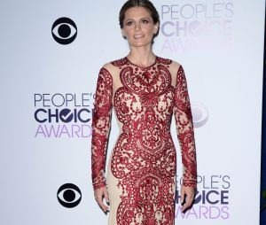 People's Choice Awards 2014 : Stana Katic sur le tapis-rouge le 8 janvier 2014 à Los Angeles