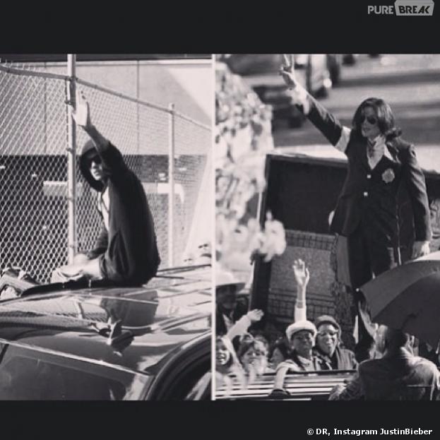 Justin Bieber se compare à Michael Jackson sur Instagram