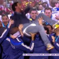 Cyril Hanouna déshabillé par les handballeurs français, Enora Malagré s'étale