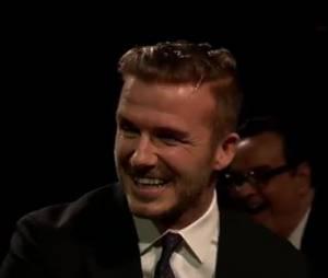 David Beckham : jaune d'oeuf dans les cheveux sur le plateau de Jimmy Fallon