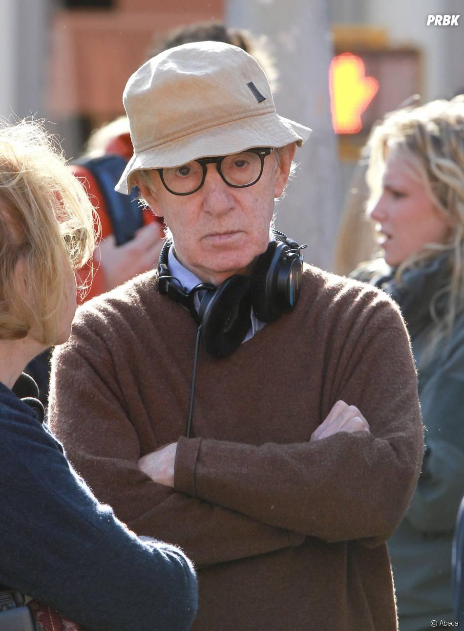 Woody Allen en plein tournage à New York, le 19 septembre 2012