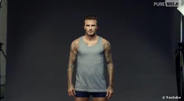 David Beckham #uncovered pour la dernière pub H&M diffusée à la mi-temps du Superbowl 2014