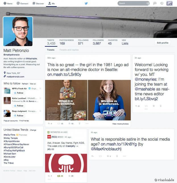 Twitter : un design ressemblant à la Timeline de Facebook en préparation ?