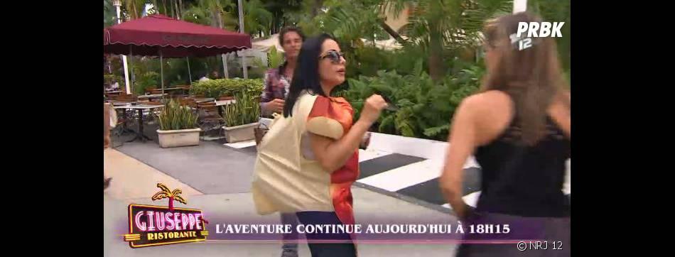 Giuseppe Ristorante : Marie-France déguisée... en pizza !