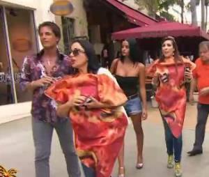 Giuseppe Ristorante : Marie-France fait la promotion du restaurant déguisée... en pizza