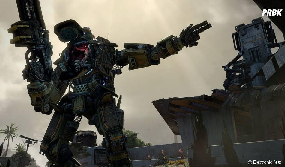 Titanfall nous permet de piloter des robots géants sur des champs de bataille
