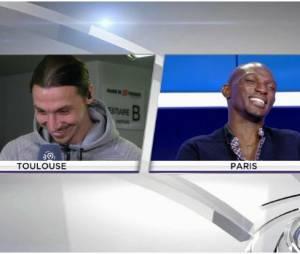 Zlatan Ibrahimovic et Zoumana Camara font le show sur beIN Sports, le 23 février 2014