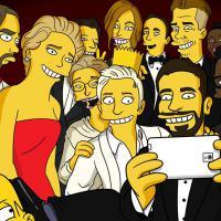 Selfie des Oscars : Les Simpson parodient la photo... et les internautes aussi