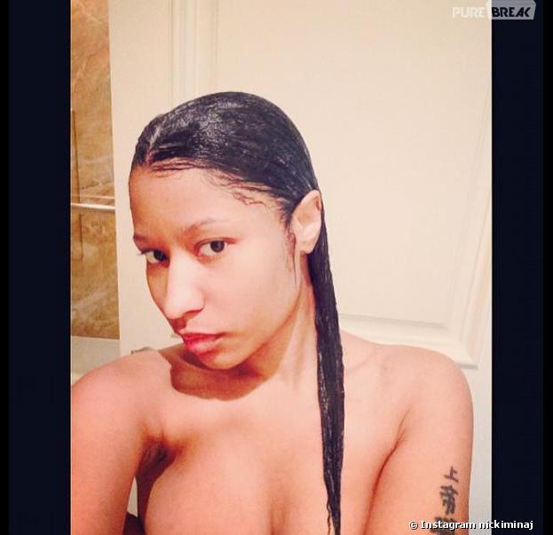 Nicki Minaj : toplesse et naturelle sur Instagram