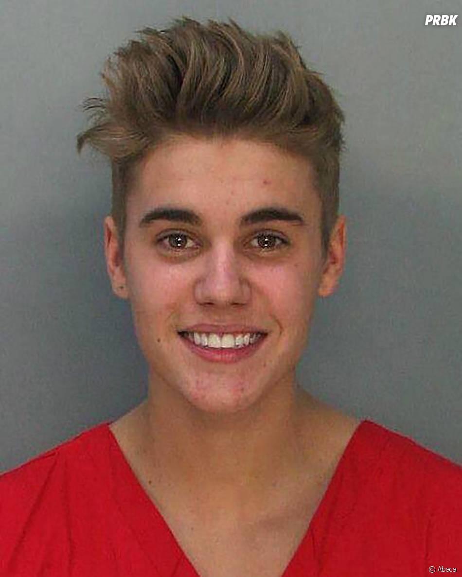 Justin Bieber : mugshot après son arrestation à Miami, le 23 janvier 2014