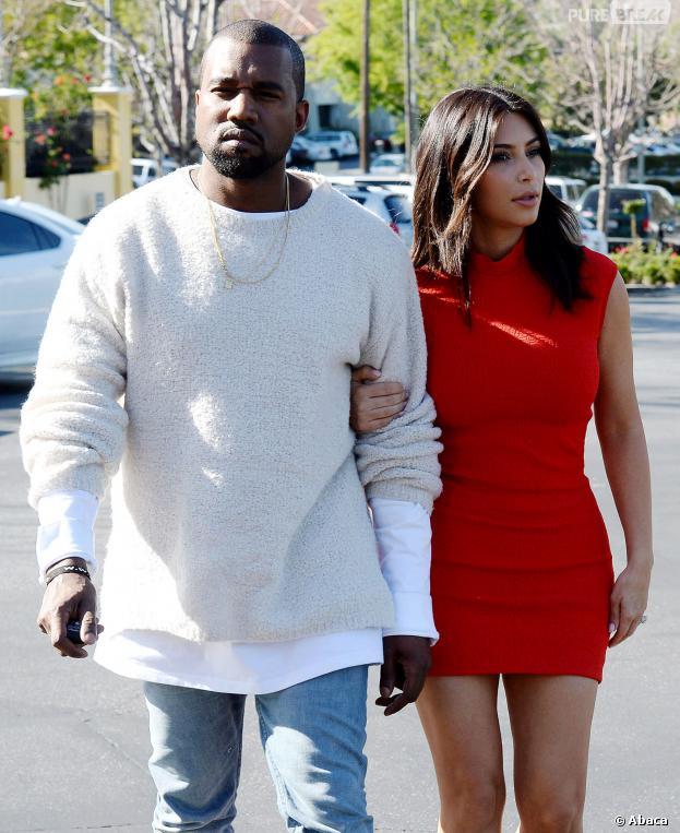 Kanye West et Kim Kardashian à Los Angeles le 14 mars 2014