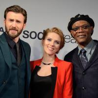 Captain America 2 : Scarlett Johansson, Chris Evans.. promo flashy à Paris