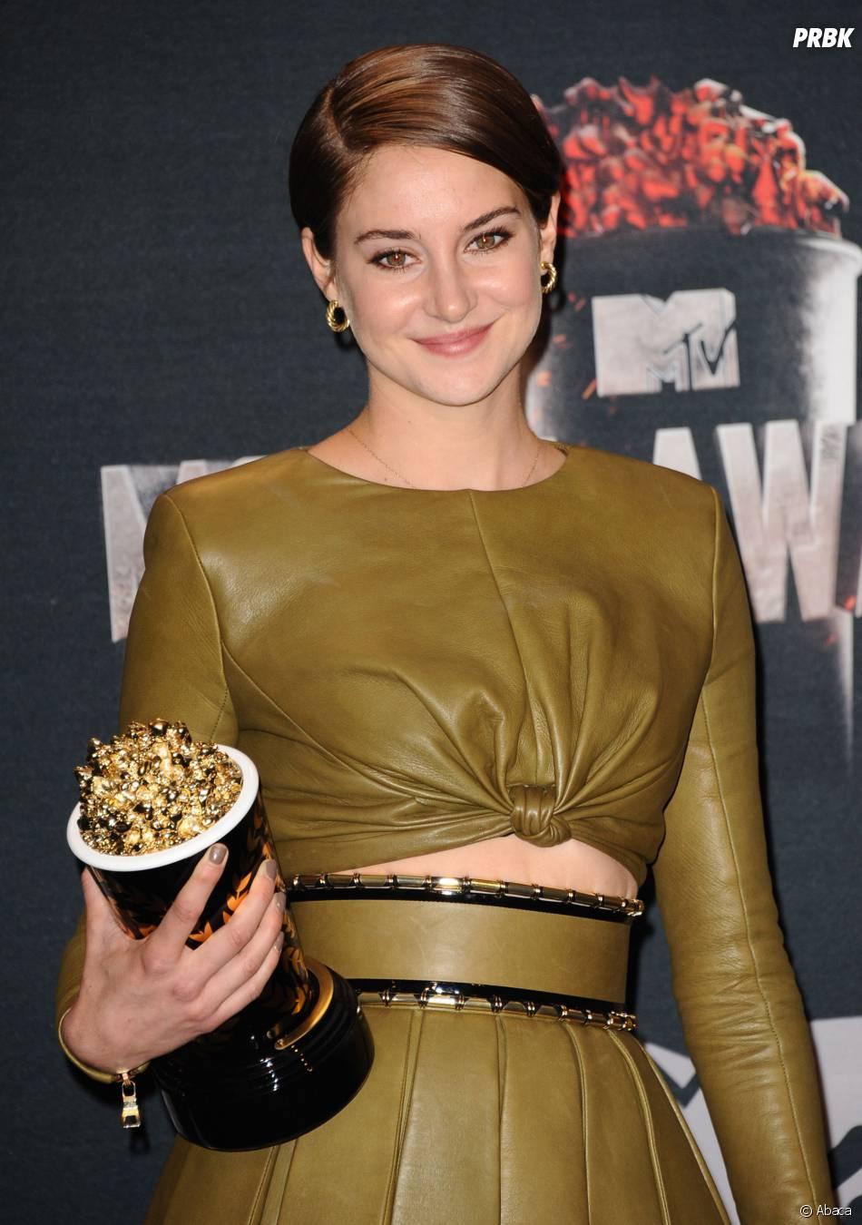 Shailene Woodley remporte le prix de Meilleur personnage aux MTV Movie Awards 2014 le 13 avril 2014
