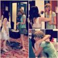 Taylor Swift fait une surprise à une fan dans l'Ohio et participe à son enterrement de vie de jeune fille, avril 2014