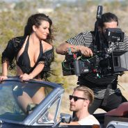 Lea Michele terriblement sexy sur le tournage du clip On My Way