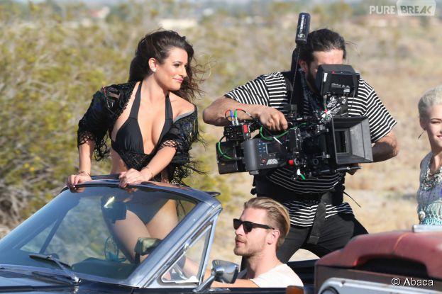 Lea Michele ultra sexy sur le tournage de son clip On My way
